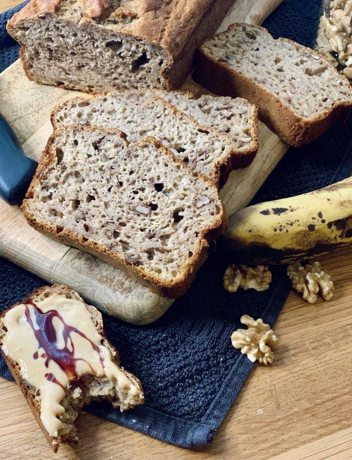 Bananenbrot ohne Zucker und ohne Fett